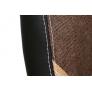 Кресло INTER кож/зам/ткань, черный/коричневый/бронзовый