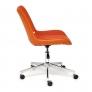Кресло STYLE экошерсть/кож/зам, оранжевый, 14-43