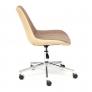 Кресло STYLE экошерсть/кож/зам, коричневый/бежевый