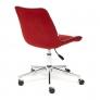 Кресло STYLE флок, бордовый, 10