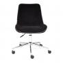 Кресло STYLE флок, черный, 35