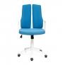 Кресло LITE белый, ткань, синий, 281