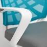 Кресло RAY ткань/сетка, серый 341/бирюзовый D18
