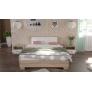 Кровать Аврора 1400 (основание ЛДСП) Сонома/белый
