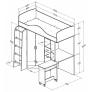 Кровать-чердак Теремок-1