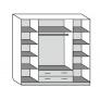 Шкаф Лакированный 4х-створчатый