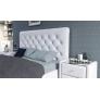 Мягкая кровать Беатриче 1800 ПМ Teos white с жемчугом