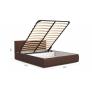 Мягкая кровать Верона 1800 (подъемник) Teos dark brown
