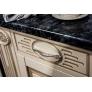Кухонный гарнитур 410*140 угловой Верона (крем глянец)