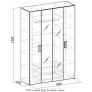 Шкаф для одежды и белья Hyper 1