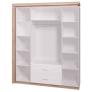 Шкаф для одежды с ящиками 4-х дверный без зеркал Люмен №16