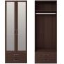 Шкаф 2-х дверный с ящиками и зеркалами 1 Скандинавия