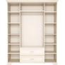 Шкаф для одежды 4-х дверный с зеркалом №2 Венеция (Бодега Светлый)